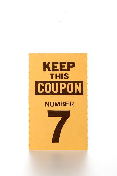 lucky-ticket - gutschein ausdrucken stock-fotos und bilder