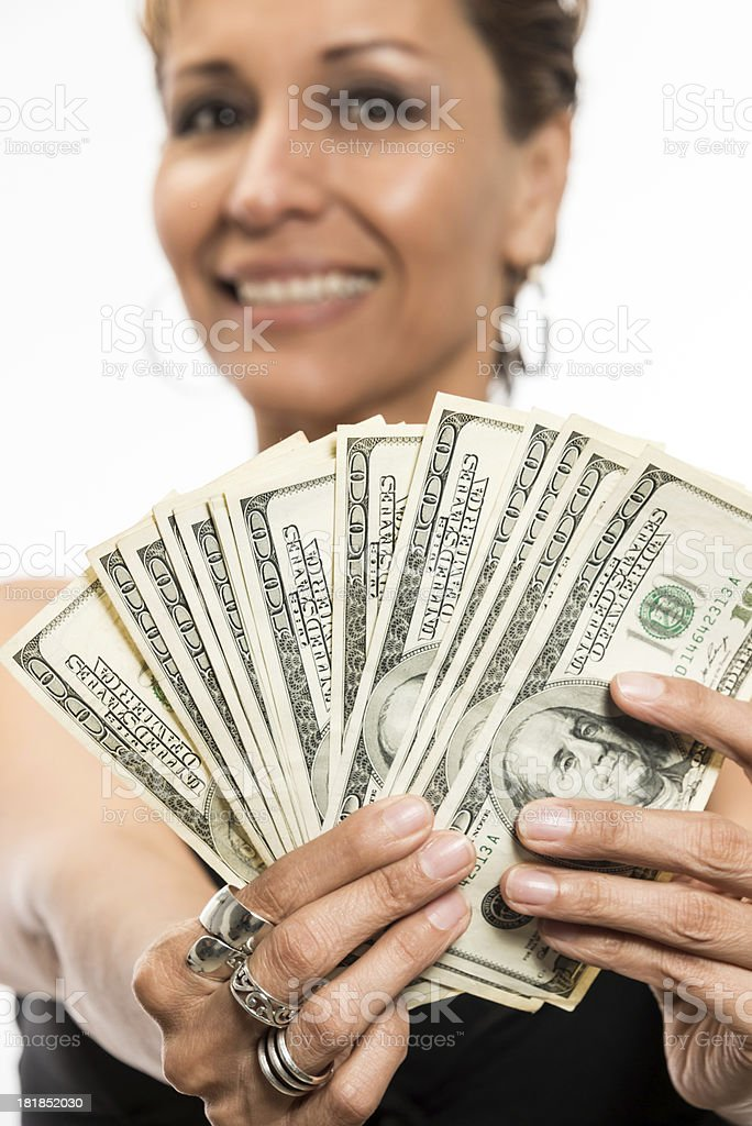Lucky woman royalty-free stock photo