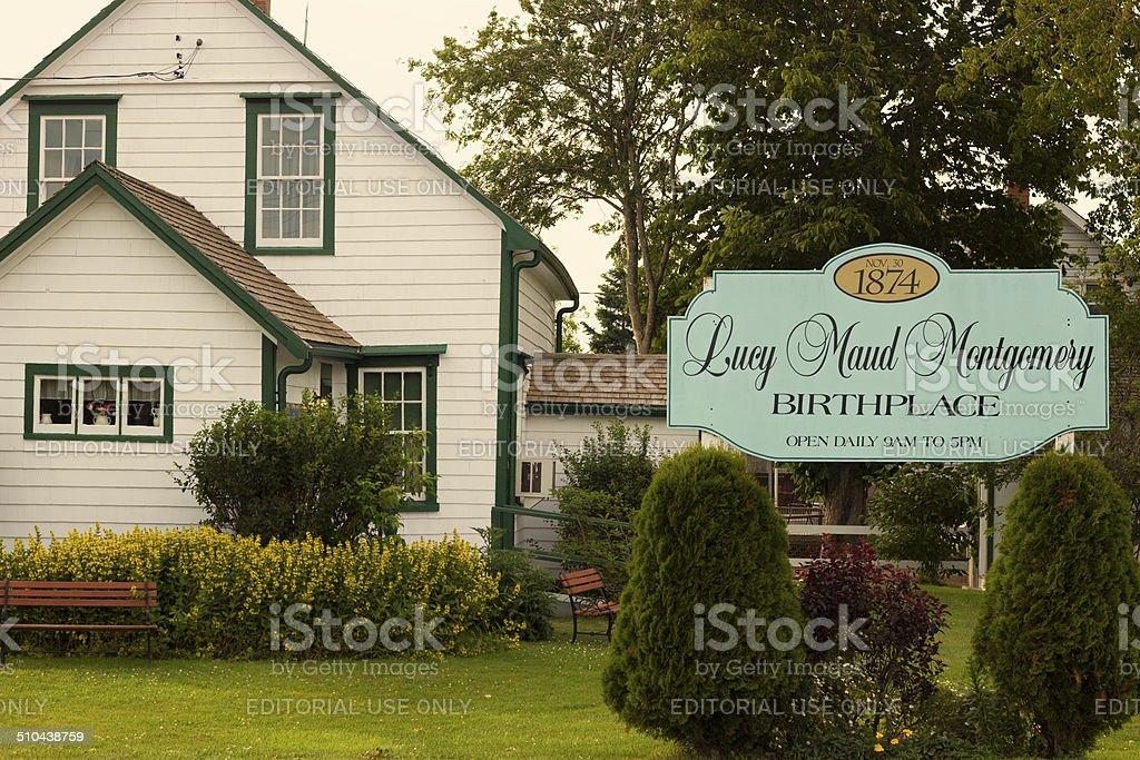 Lucy Maud Montgomery Birthplace in Prince Edward Island stock photo