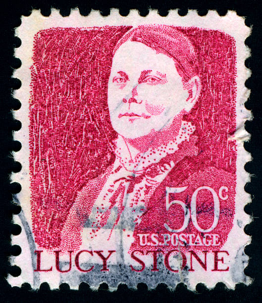 Lucy Stone Postage Stamp, USA Lucy Stone Postage Stamp.Lucy Stone was a prominent American abolitionist and suffragist and a strong supporter and organizer of the promotion of women's rights. suffragist stock pictures, royalty-free photos & images