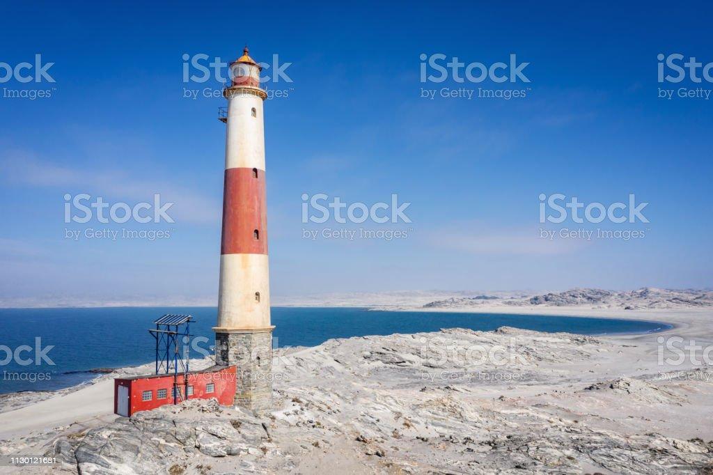 Luderitz Lighthouse at Diaz Point Lüderitz Namibia stock photo