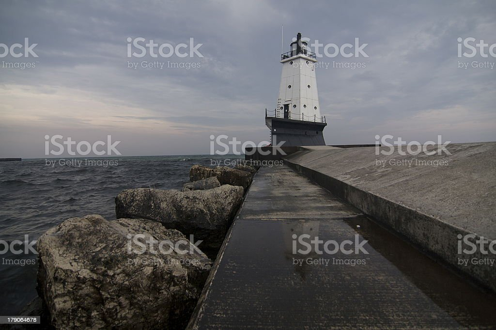 Ludington Breakwater Light Series royalty-free stock photo
