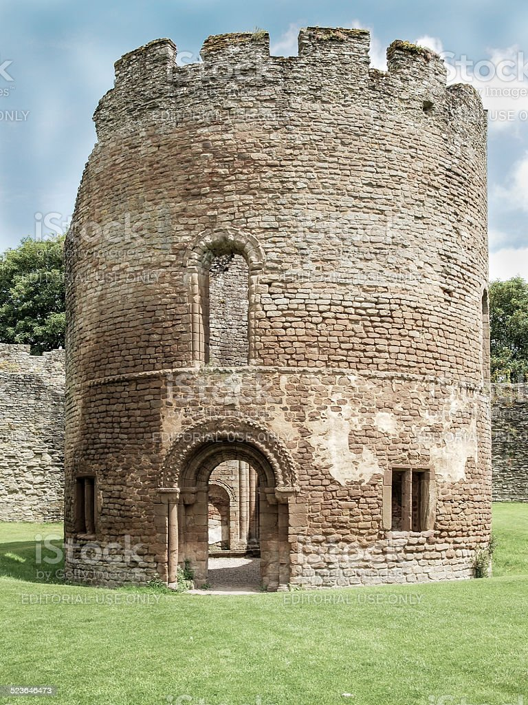 Ludlow castle stock photo