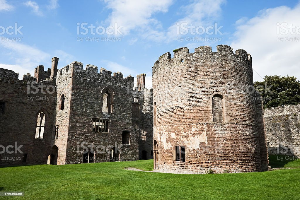 Ludlow Castle Round Chapel stock photo