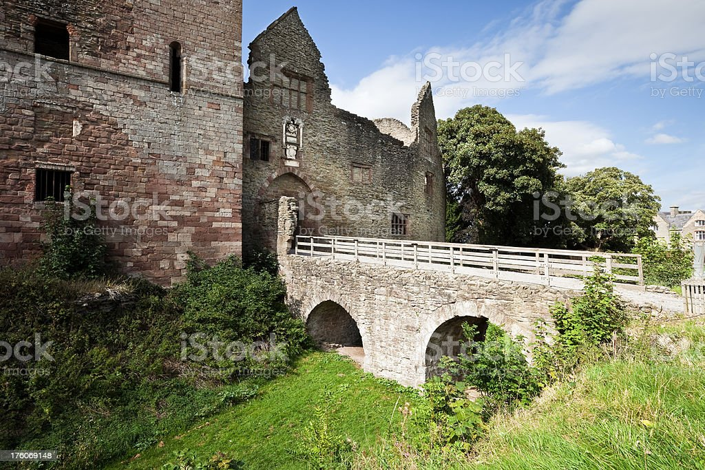 Ludlow Castle Ruins stock photo