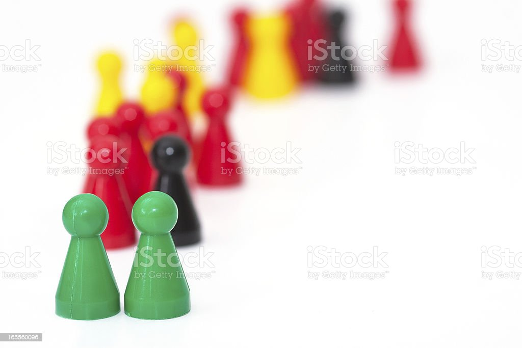 Ludo figures showing human aktions royalty-free stock photo