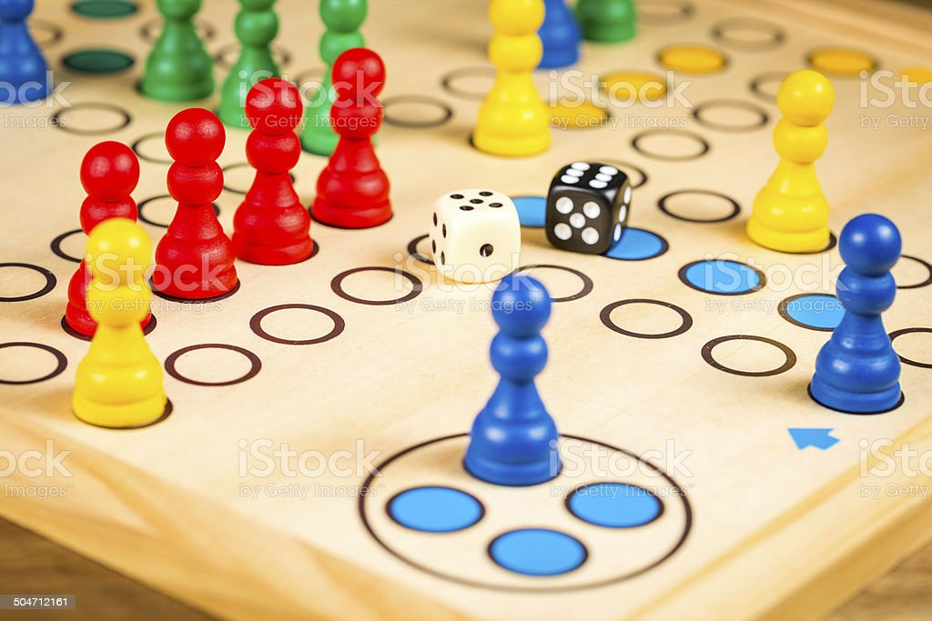 Ludo stock photo