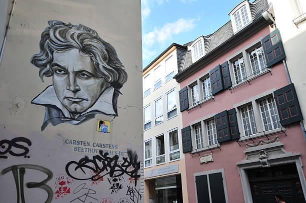 Ludwig van Beethoven Gekritzel und Haus der Geburt – Foto