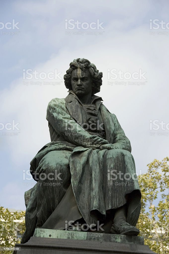 Ludwig Van Beethoven's statue (1880) stock photo