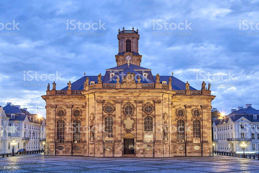 Ludwigskirche - baroque style church in Saarbrucken stock photo
