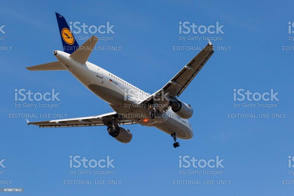 Lufthansa Airbus A319 royalty-free stock photo