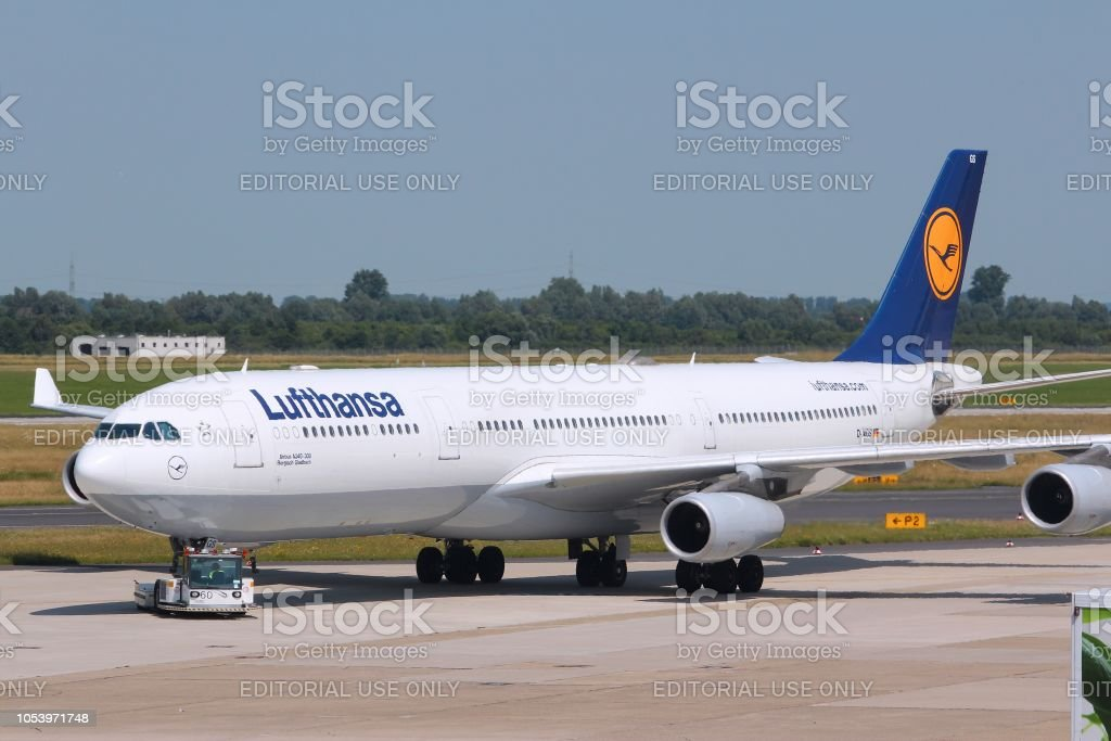 ルフトハンザ ドイツ航空エアバス A340 - エアバスのストックフォトや ...