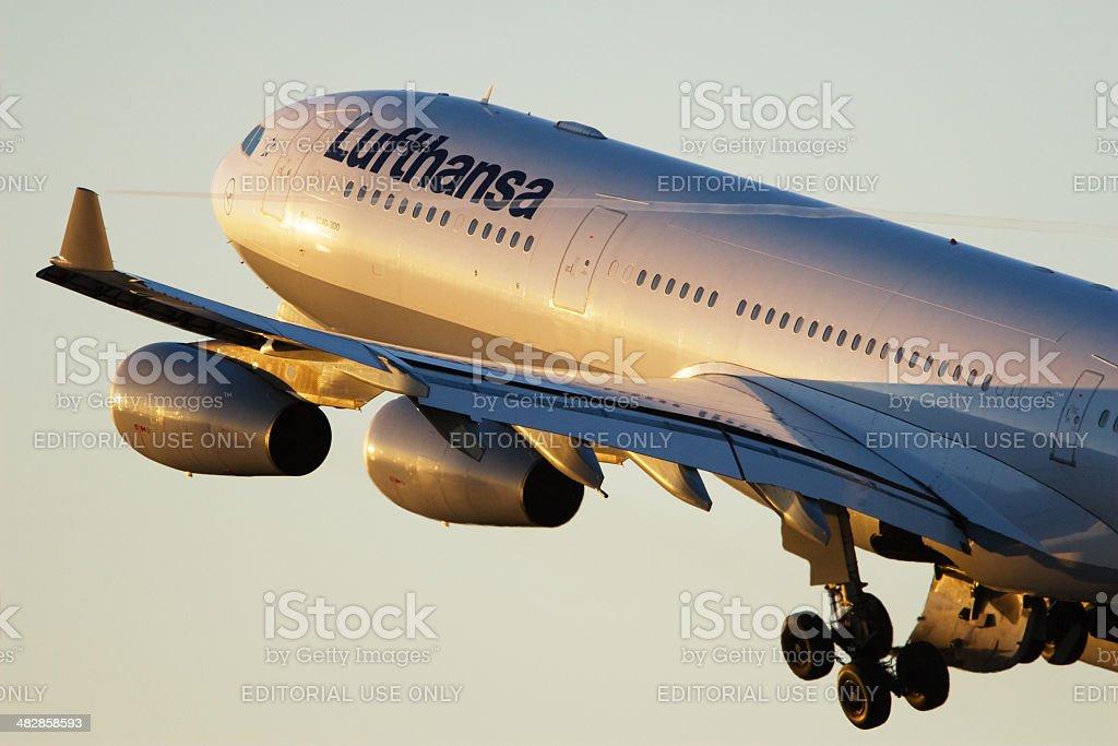 Lufthansa Airbus A340-300 taking off