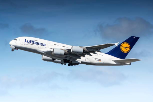 Lufthansa Airbus A380 stock photo