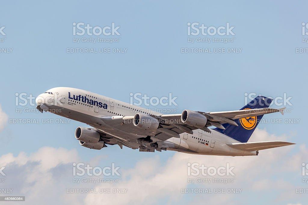 Lufthansa Airbus A380-800 stock photo