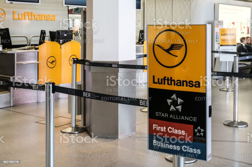 Lufthansa airline symbol stock photo