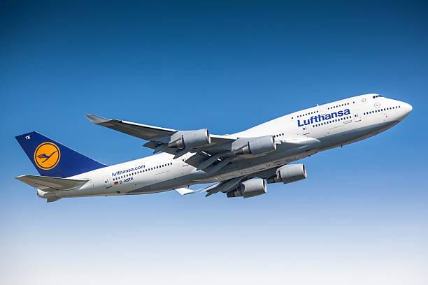 Lufthansa Boeing 747-400 stock photo
