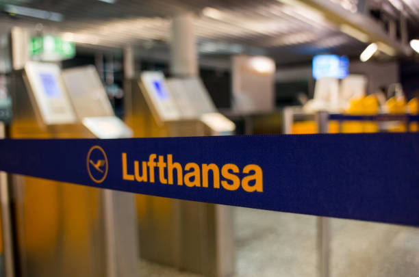 Lufthansa logo in Frankfurt am Main stock photo