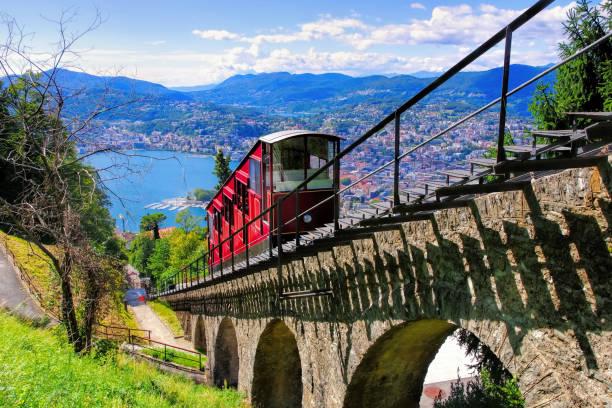 Seilbahn Lugano und Lago di Lugano, Schweiz – Foto