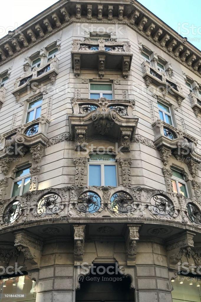 Lugano lake building architecture