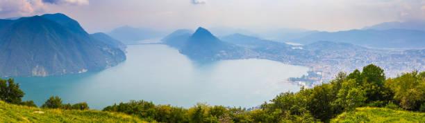 Lugano Lake stock photo
