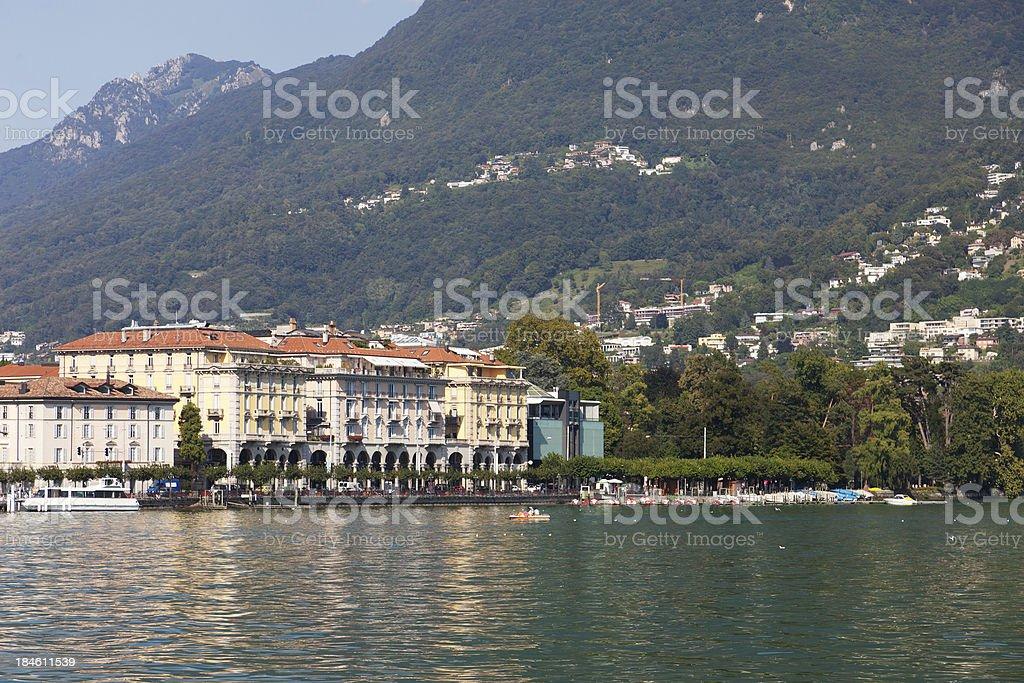 Lugano See/Stadt in der Schweiz. – Foto