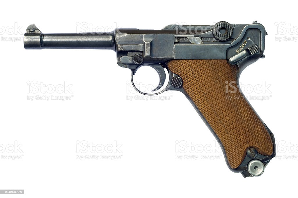 Luger P08 Pistol royalty-free stock photo