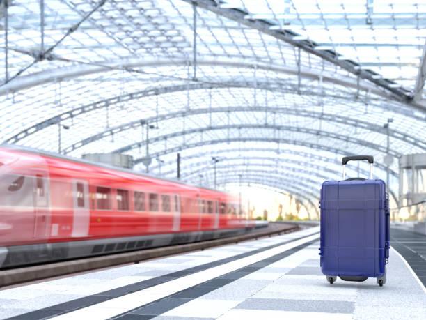 Gepäck am Bahnhof – Foto
