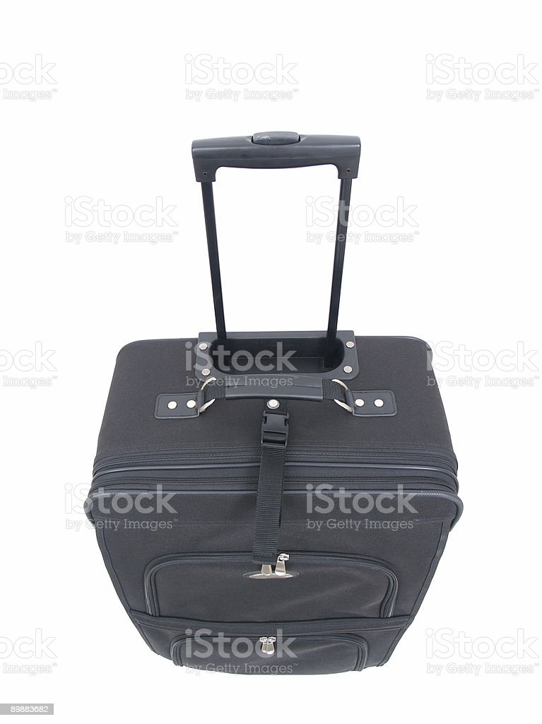 Luggage Black with Handle royalty-free stock photo