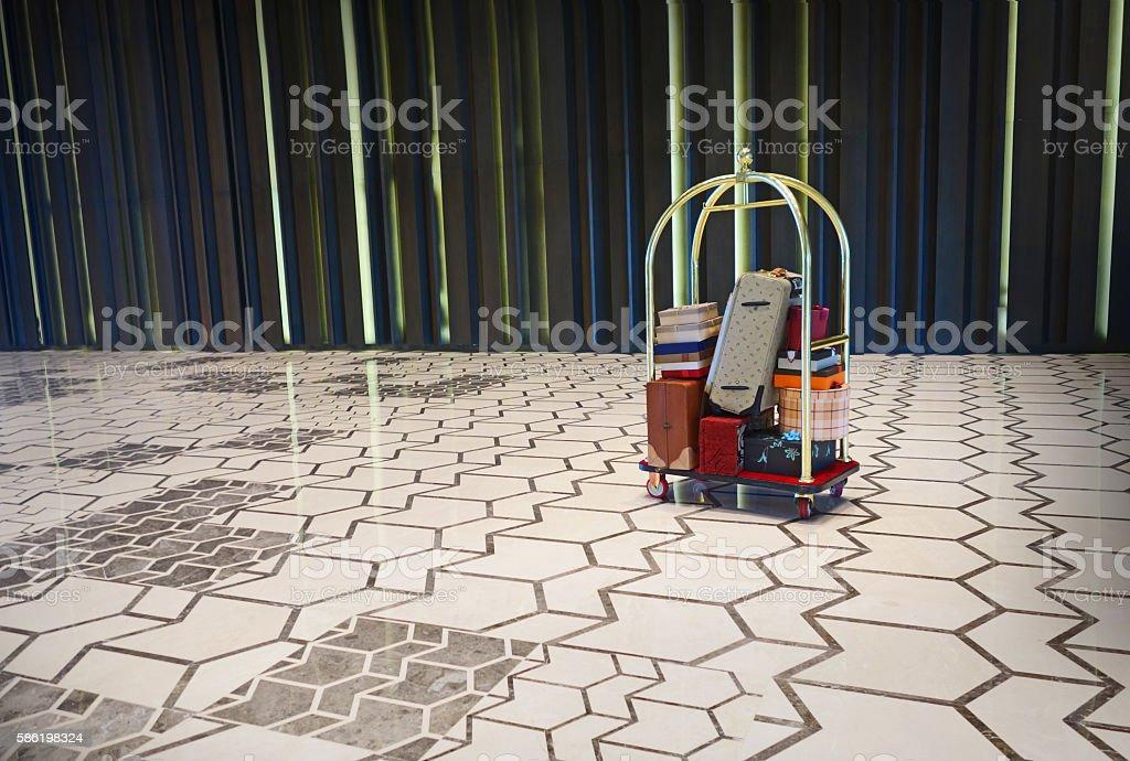 Luggage Cart stock photo