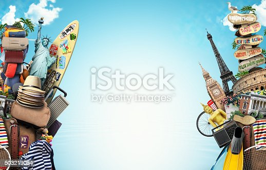 istock Luggage, goods for holidays 503219084