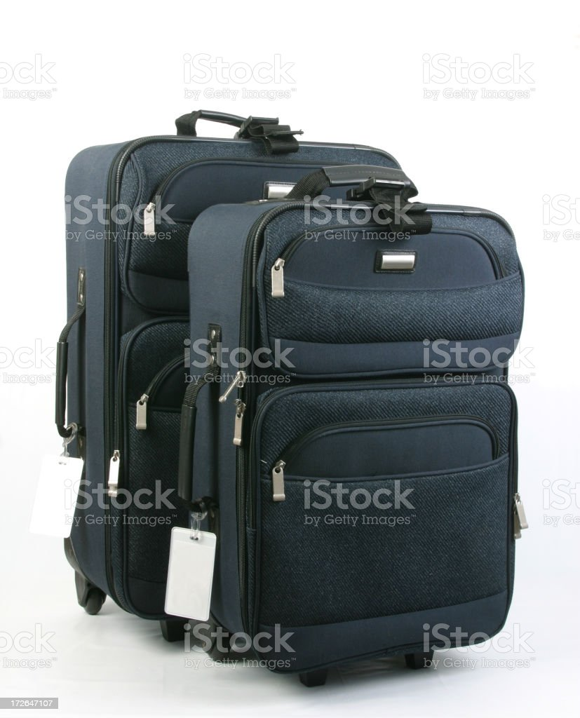 Luggage Pair With BlankTags Near Bottom, Suitcsase, Travel Bag royalty-free stock photo