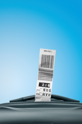 Luggage Tag With Suitcase Stock Photo - Download Image Now