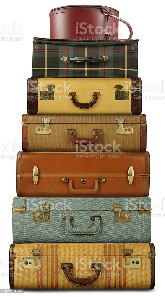 Luggage Tower stock photo