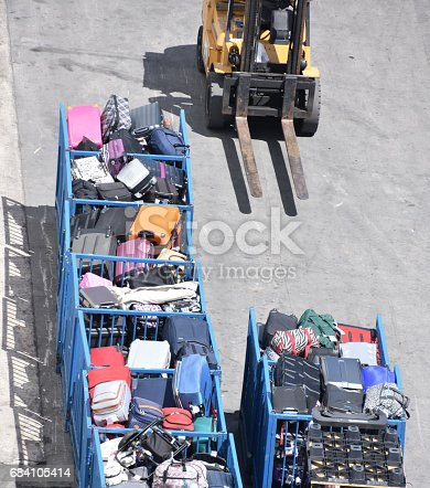 186763256 istock photo Luggage transfer at the airport 684105414