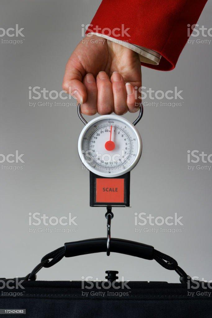 Luggage Weight Limitation royalty-free stock photo