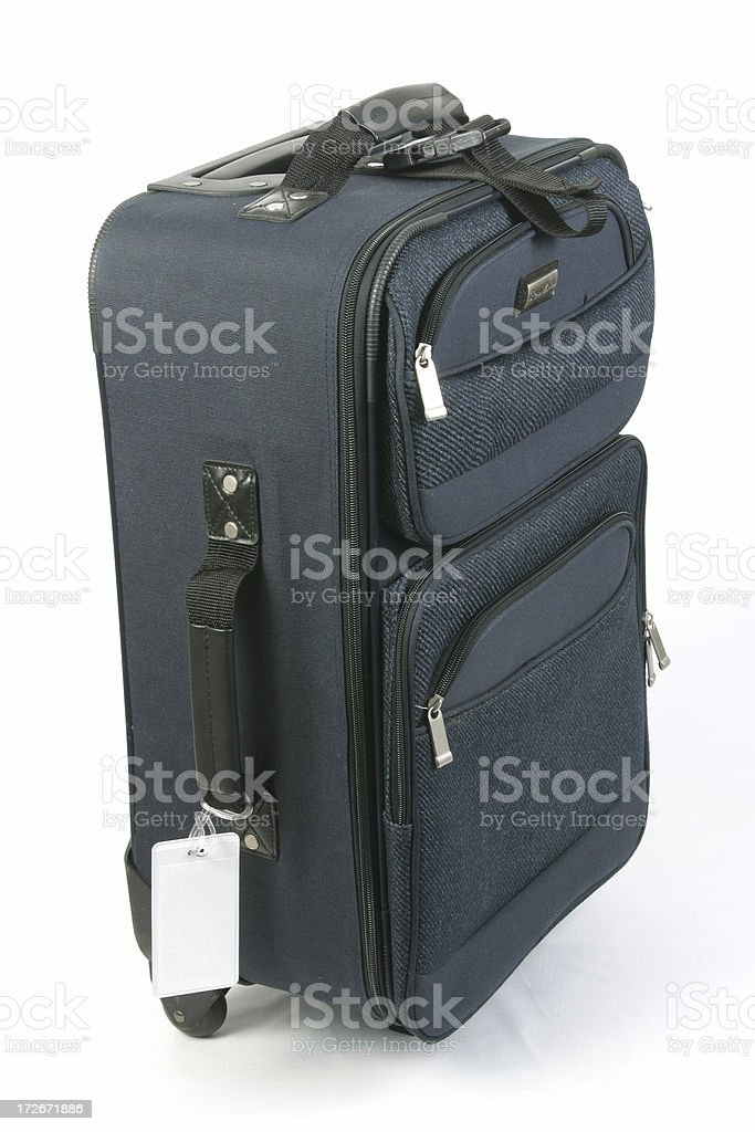 Luggage With Blank Tag Near Bottom, Suitcsase, Travel Bag royalty-free stock photo