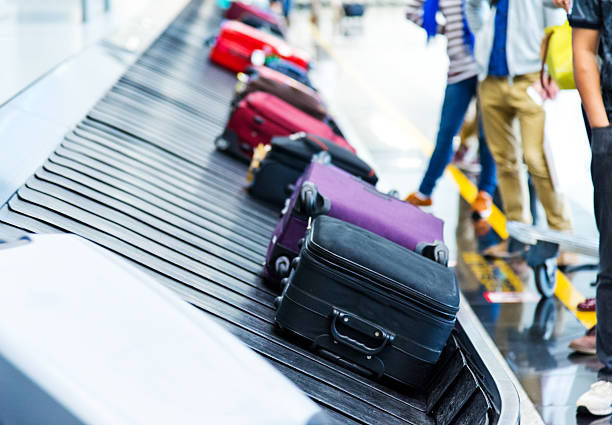 Luggages stock photo