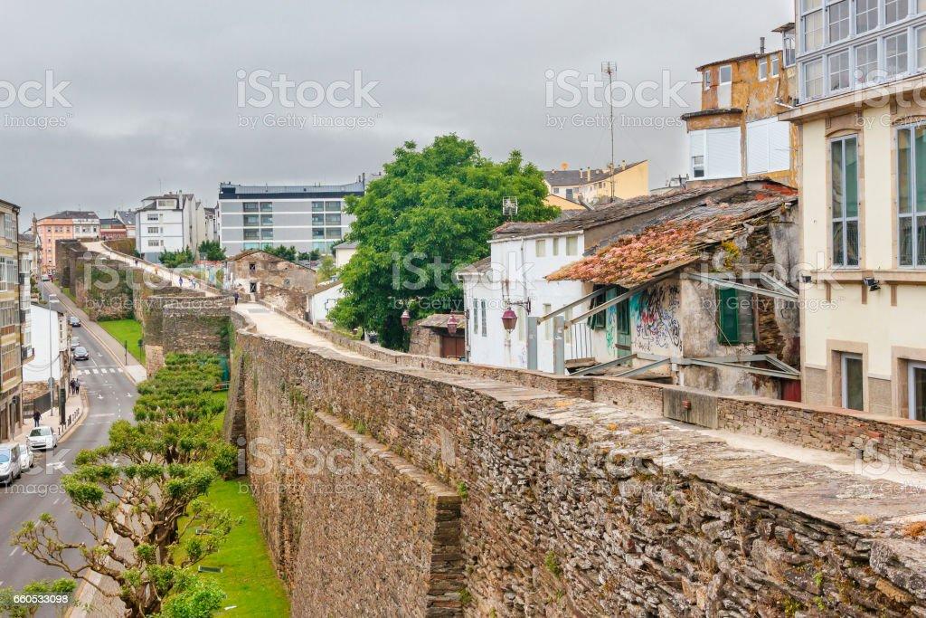 Lugo's Roman wall royalty-free stock photo