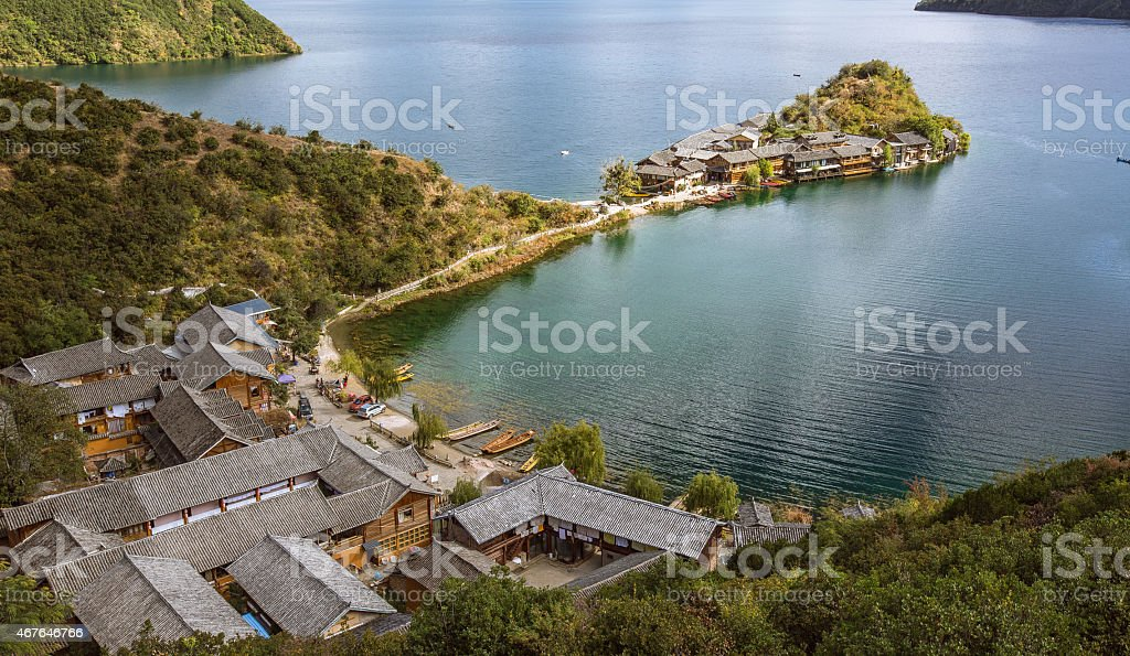 Lugu lake stock photo