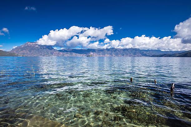 Lugu lake stock photo