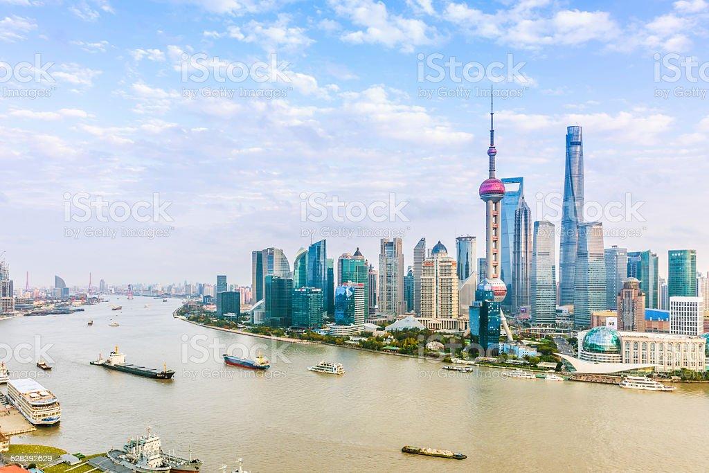 Lujiazui and Shanghai skyline stock photo