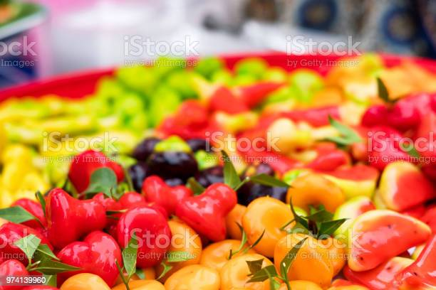 Photo of Luk Chup or Thai style marzipan fruits