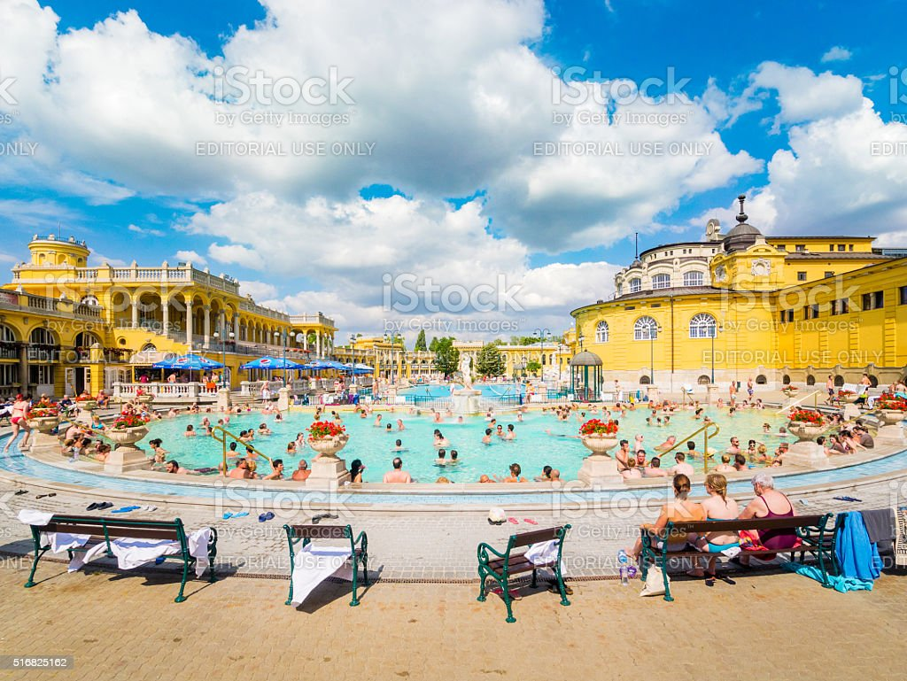 Lukacs Thermal Baths in Budapest, Hungary stock photo