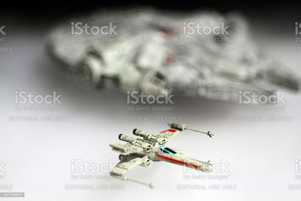 Luke and Han stock photo
