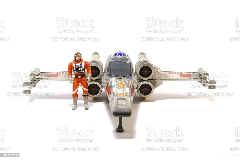 Luke and His X-Wing royalty-free stock photo