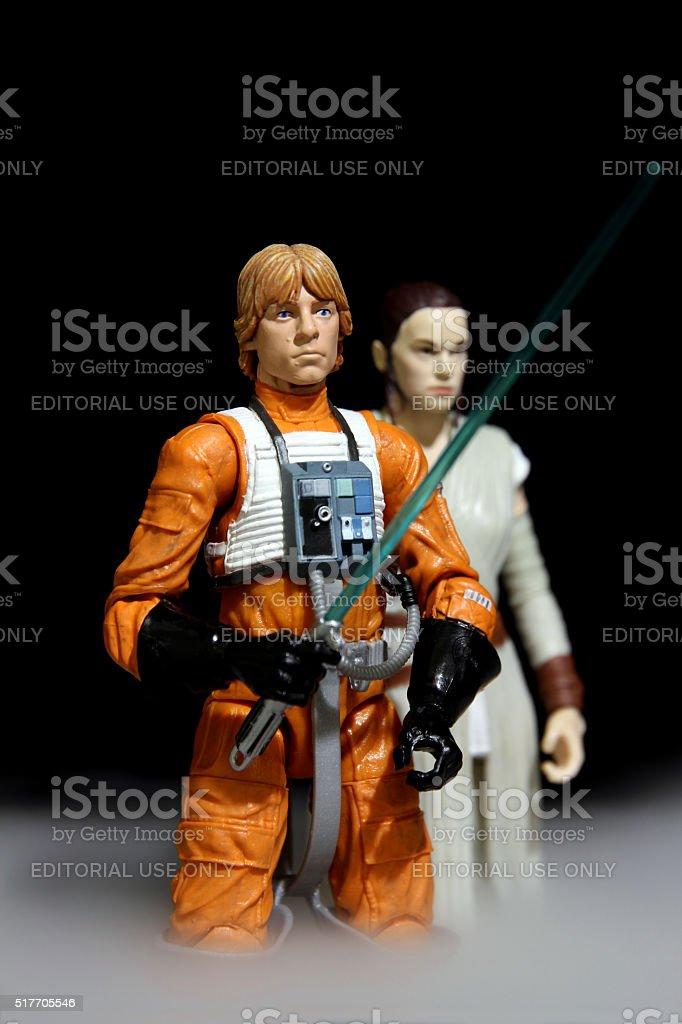 Luke and the Uncertain Future stock photo
