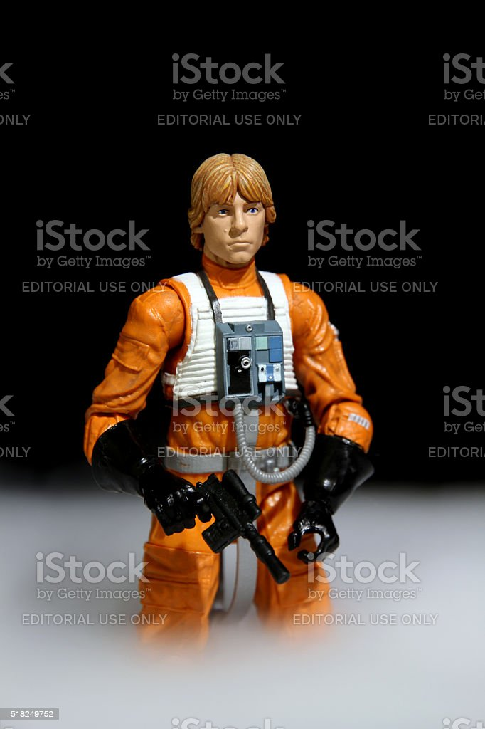Luke in the Mist stock photo