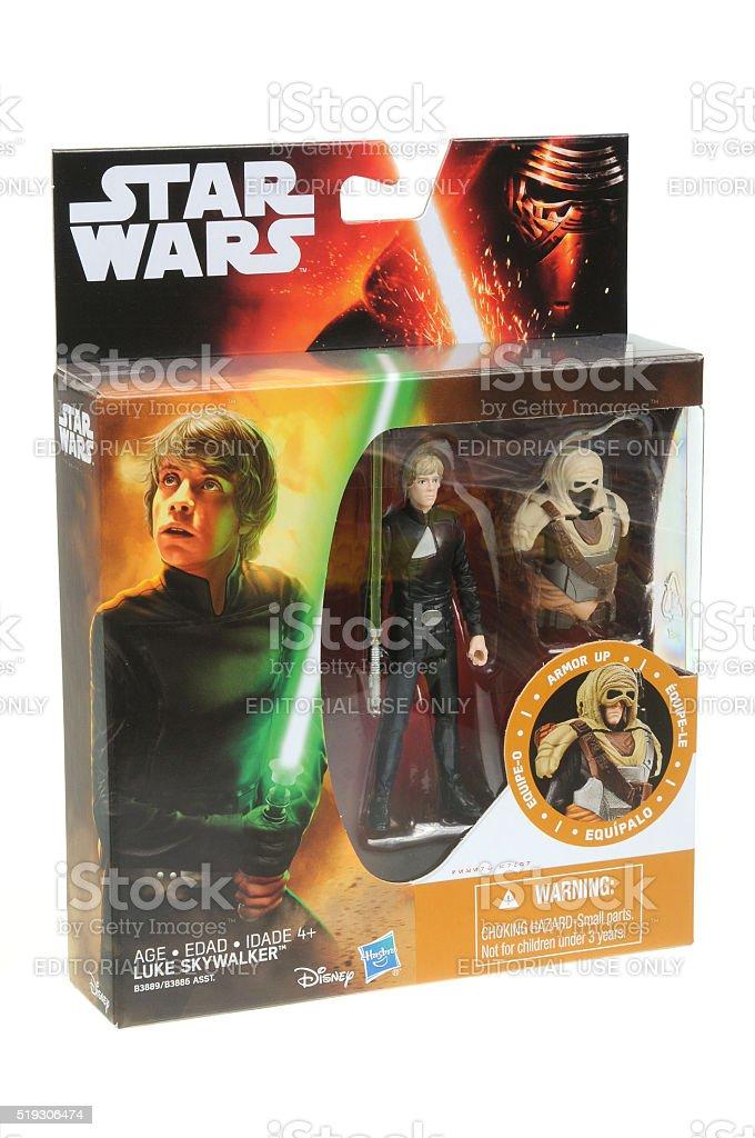 Luke Skywalker Action Figure stock photo