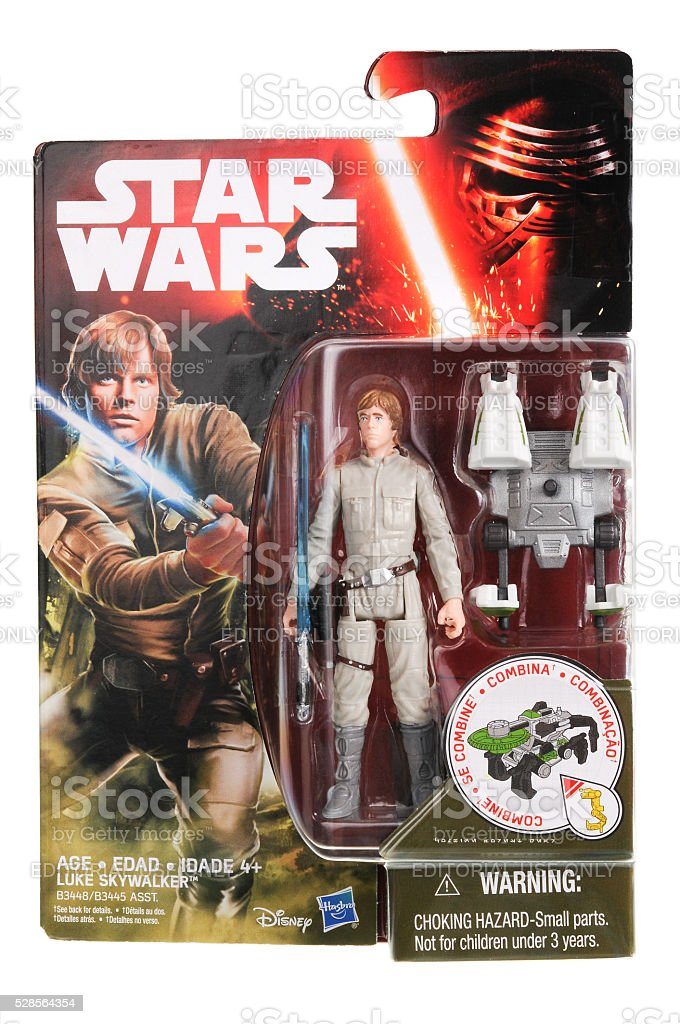 Luke Skywalker Action Figure stock photo